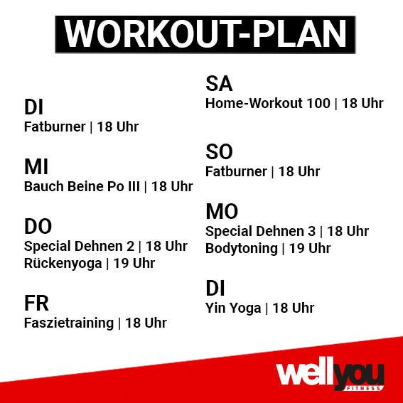 wellyou Workout-Plan 05.05.-12.05.2020